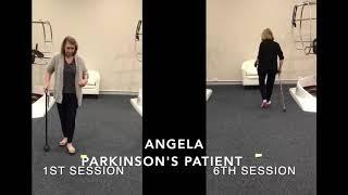 Angela's (Parkinson's Patient) progress after treatment on REVIVER®