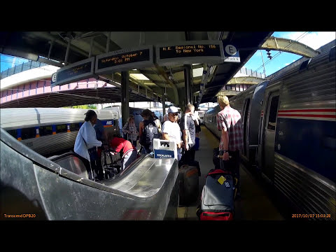 Amtrak Train Washington To New York At Baltimore Penn Station