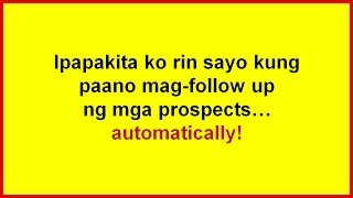 Network Marketing in the Philippines  How To Follow Up Prospects Automatically
