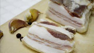 Сухой посол сала - самый вкусный и простой рецепт/Dry salad grease.
