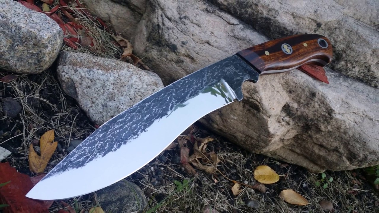 Bladesmithing Forging A Recurve Chopping Knife From O1