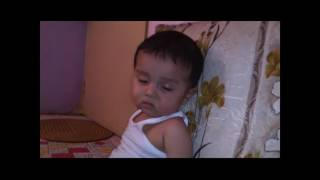Cute boy trying to sleep   Funny Baby video