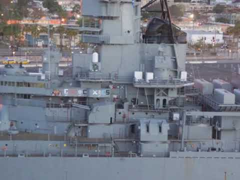 The battleship USS IOWA a museum in Long Beach, California