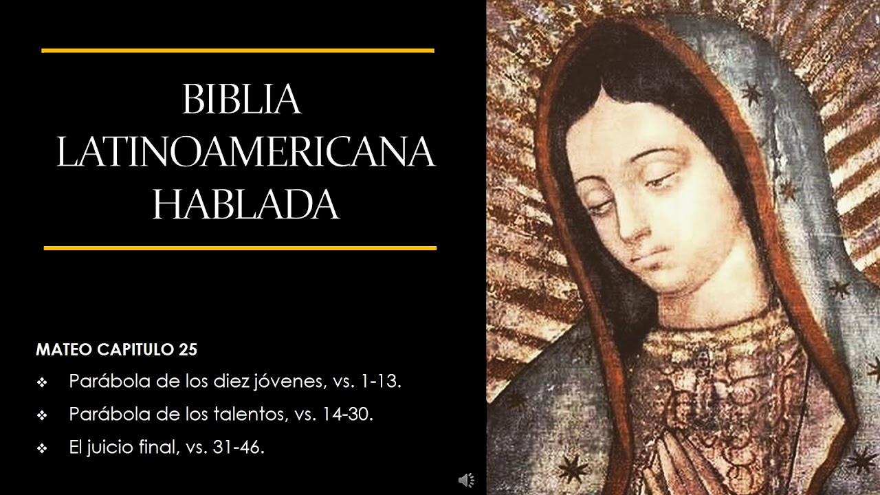 Biblia Latinoamericana Mateo 25 Youtube