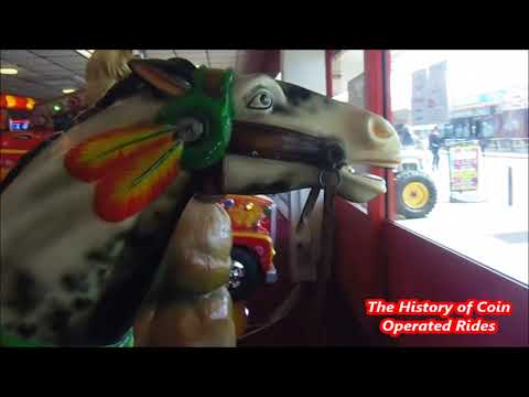 1990s Coin Operated Horse Kiddie Ride - Geronimo's Horse Interactive