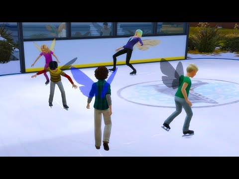 Ice Skating Birthday Party ! Teen Age Up Party Fairy SIMS 4 Game Let's Play  Video Part 52
