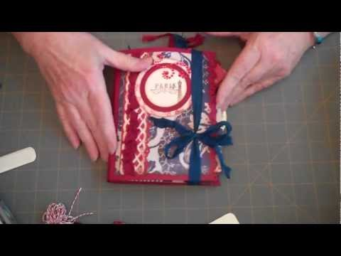 52 Mini Album Journals and Such:  Project 10: Before TP Roll Mini and French General Journal
