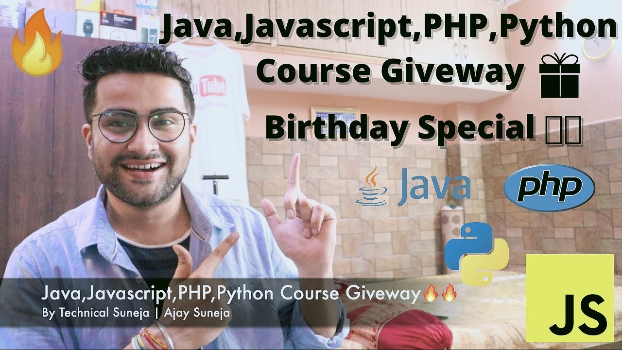 Java, Javascript, PHP, Python Course Giveway - Want to participate ?