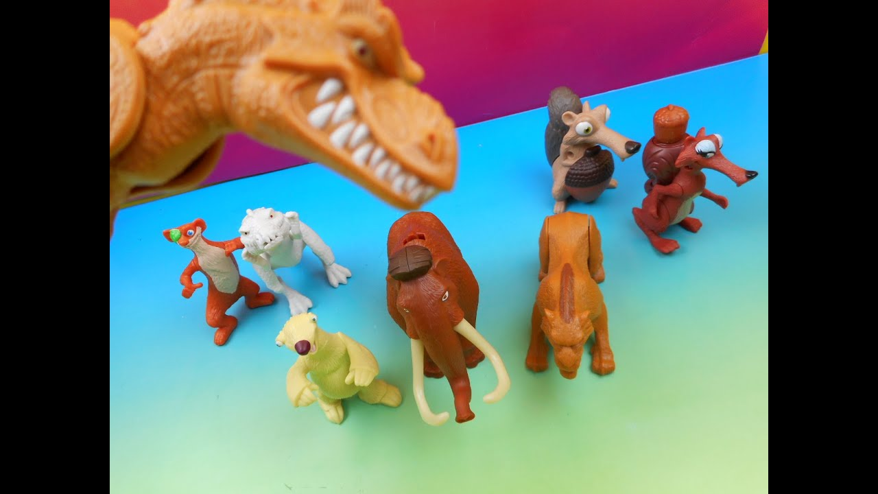 2009 ice age dawn of the dinosaurs happy meal set of 8