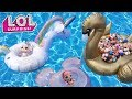 LOL Surprise Summer Pool Party | L.O.L. Surprise Mini Floaties Fun Series 1 + 2 + 3