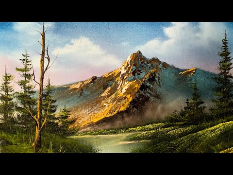 How To Paint A Beautiful Mountain Landscape In Oil - Paintings By Justin