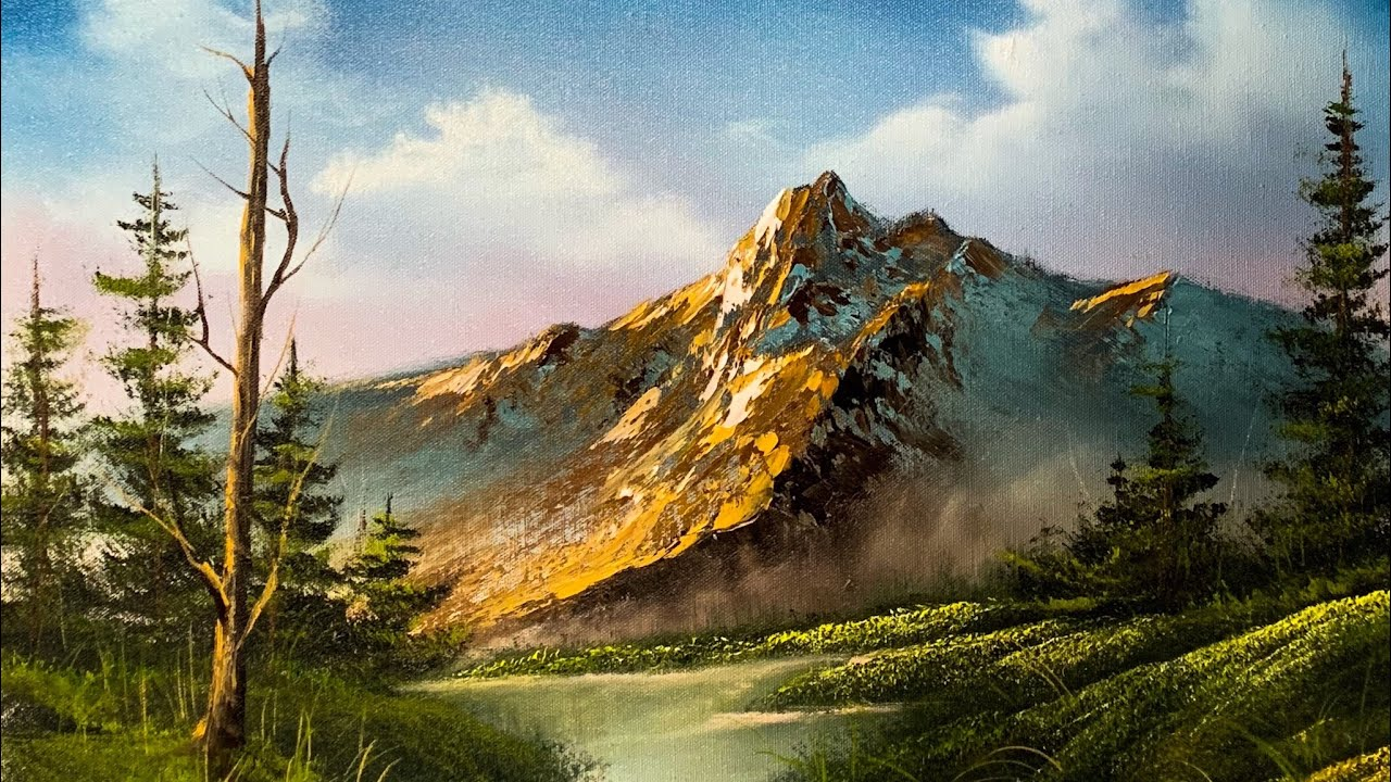 How To Paint A Beautiful Mountain Landscape In Oil