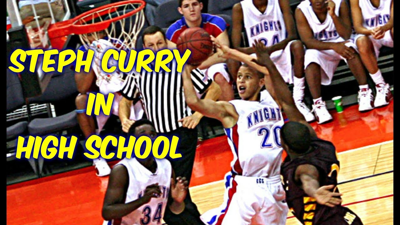 buy online cde0f 085cc NBA Stars in High School - Steph Curry Highlights Mix