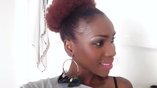 Hair Up-do: Afro Puff On Short/medium Natural4c Hair