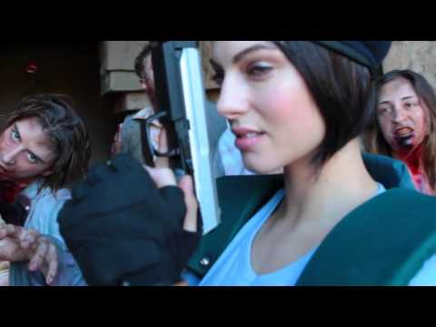 Behind the s with Julia Voth cosplaying as Jill Valentine.