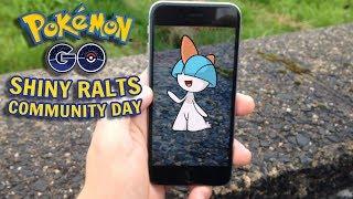 SHINY RALTS COMMUNITY DAY W POKEMON GO!