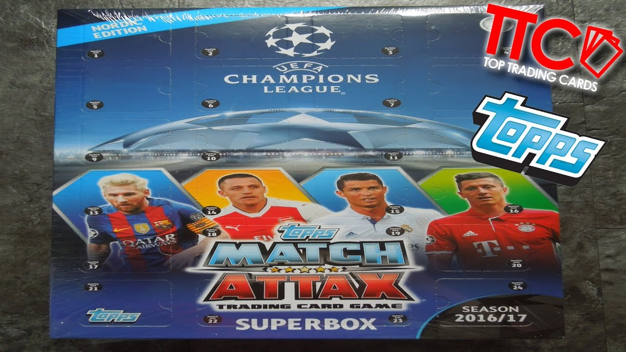 Match Attax Weihnachtskalender.Match Attax 2016 2017 Adventskalender Champions League Topps
