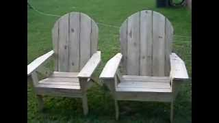 Finished Adirondack Chairs