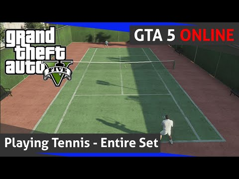 Grand Theft Auto 5 Online - Playing Tennis (HD-60fps)