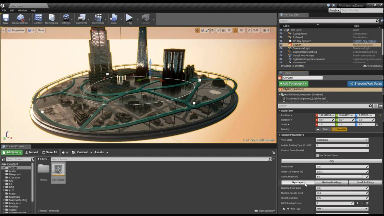 Procedural City Tool with Houdini, Houdini Engine, and Unreal Engine