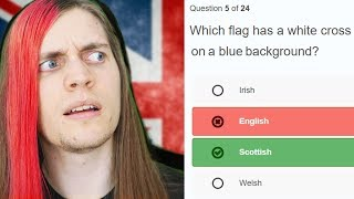 English guy takes English citizenship test