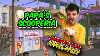 Papa's Scooperia GamePlay w/ Jungle Beast