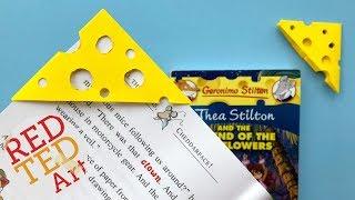 DIY Cheese Corner Bookmark - Easy DIY Cheese Bookmark Corner - Geronimo Stilton DIY