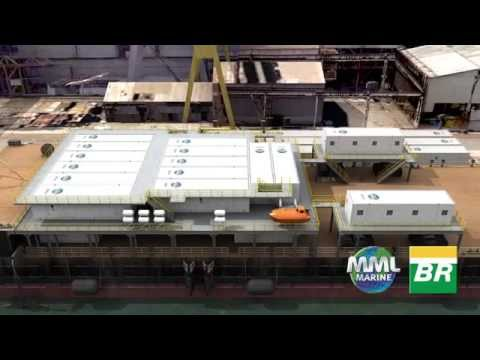3D Animation. Shipping Barge Conversion