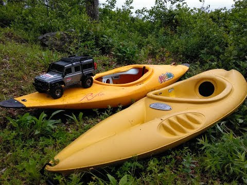 Land Rover Defender Trail Truck Adventure To Rescue Lost Kayaks!