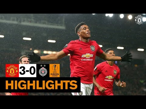 Highlights | United 3-0 Partizan Belgrade | Uefa Europa League