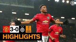 Highlights | United 3 0 Partizan Belgrade | Uefa Europa League