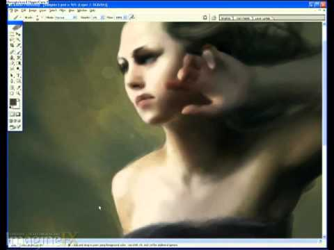 Marta Dahlig paints a gothic female in Photoshop