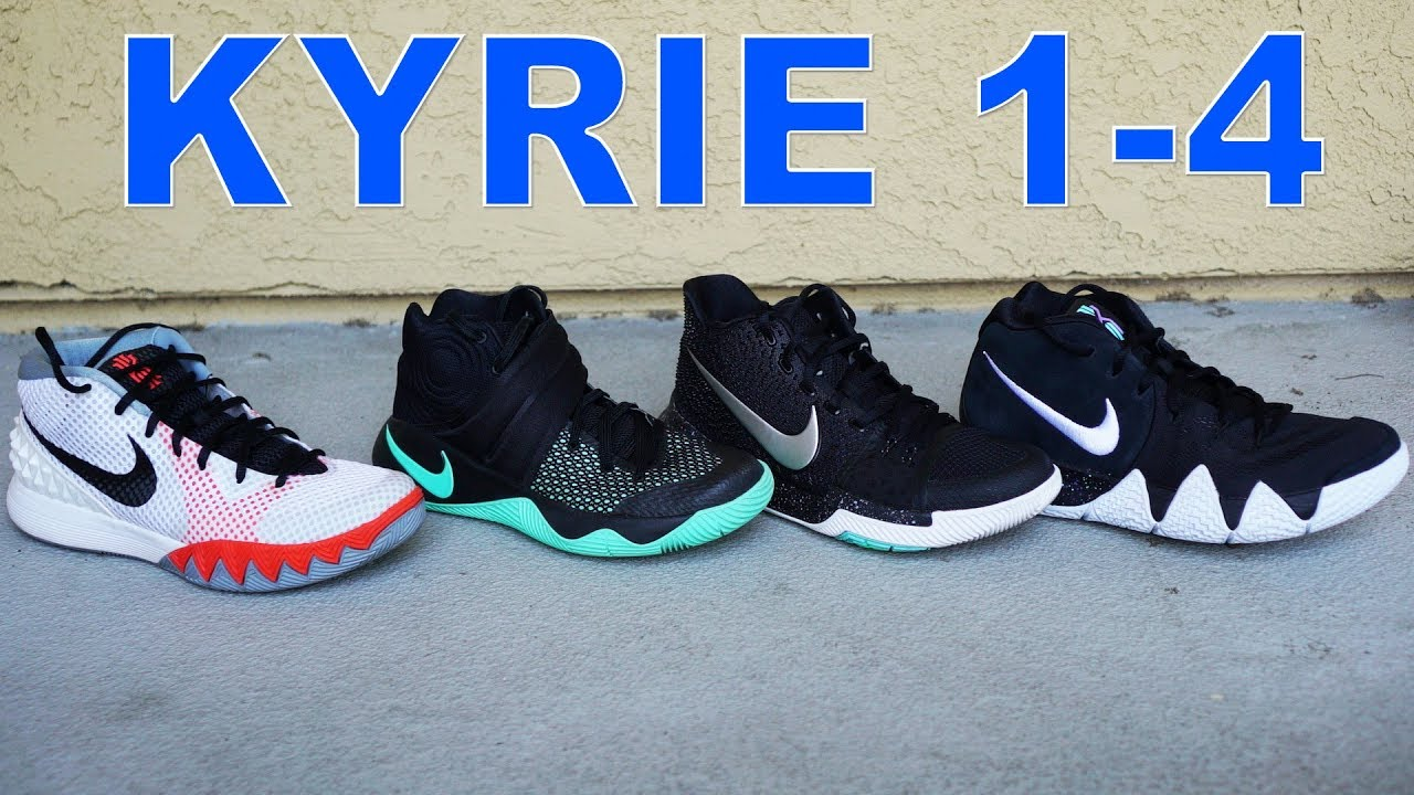 innovative design 69609 3fba0 Nike Kyrie 1 - 4 Detailed Look & Comparison! What's the Best?!