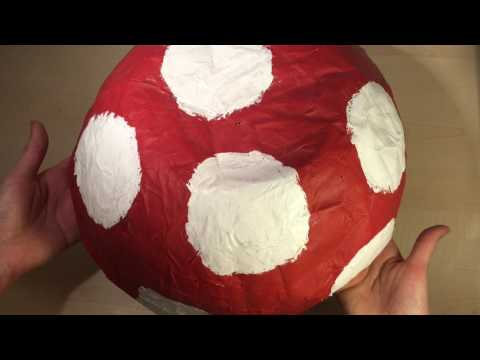 ASMR Mini: Paper Mache Mushroom - No Talking, Tapping, Scratching, Hand Movements