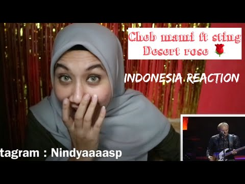 Sting and Cheb Mami - Desert Rose   Live Version   INDONESIA REACTION