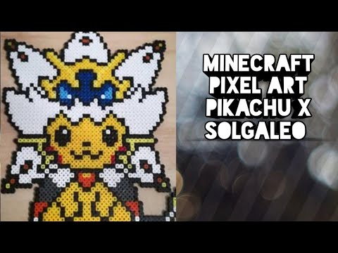 Pixel Art Pokemon Pikachu Wearing Solgaleos Cape Youtube