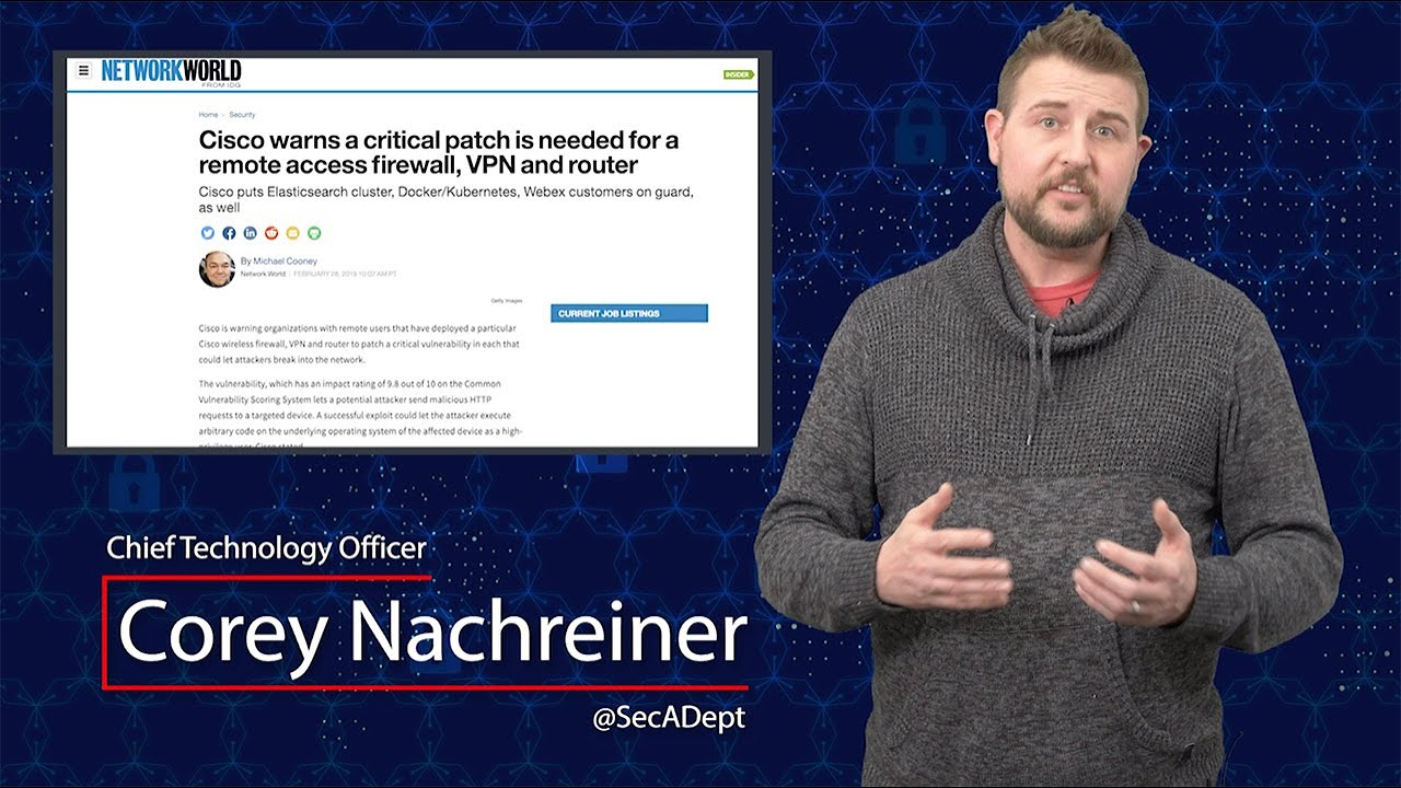 Critical Cisco VPN Router Flaw - Security Byte | Secplicity