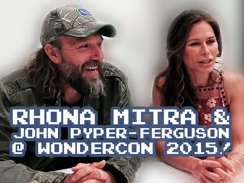 The Last Ship's John Pyper-Ferguson and Rhona Mitra at Wondercon 2015