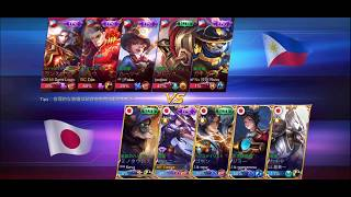 ARENA CONTEST! JAPAN VS PHILIPPINES! TOP 1 FANNY JAPAN YASUE FIGHTING AGAINST MY COUNTRY!