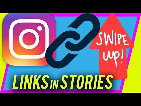 How to add LINKS to Instagram Story - Swipe up URL link