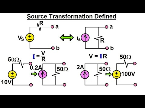 Electrical Engineering: Ch 4: Circuit Theorems (10 of 35) Source Transformation Defined