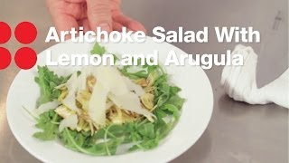 Artichoke Salad With Lemon And Arugula