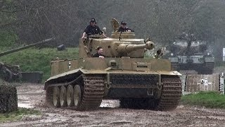 "Tiger Tank 131 Sounding Great In The Mud and Rain  ""Tiger Day 2014"""