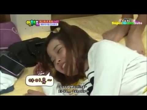 IU startled when woken up! Cute~