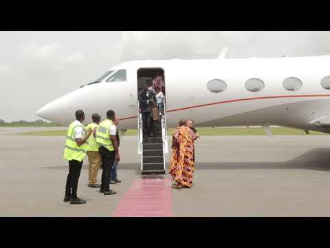 CEO OF ZYLOFON MEDIA NANA APPIAH MENSAH COMES TO KUMASI WITH HIS PRIVATE JET