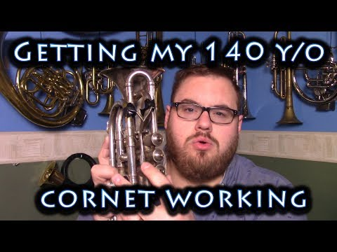 Getting the 140 year old Cornet working enough to record...
