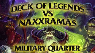 Hearthstone: Deck of Legends vs Naxxramas Military Quarter