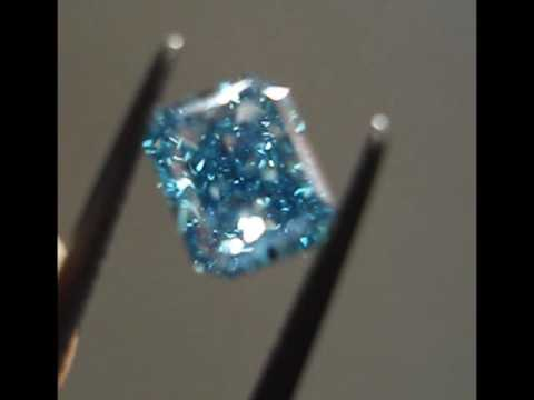 irradiated blue product diamond ring