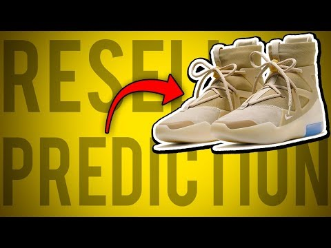 "AIR FEAR OF GOD 1 ""OATMEAL"" RESELL PREDICTION! RELEASE DETAILS & BEST TIME TO SELL!"
