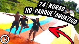 24 HORAS NO PARQUE AQUÁTICO!!! (DESAFIO)